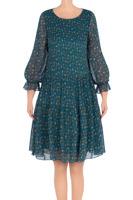 932aff483d Modna sukienka damska Pola bordowa w beżowe kwiatki 3214